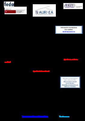 Programa foro aurhea albacete anerr 25 junio 2015
