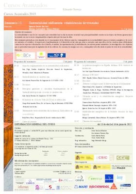 2015 seminario sostenibilidad edificatoria