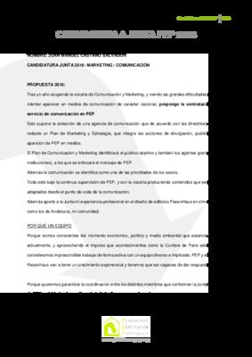 Candidatura junta 2016 juan manuel casta%c3%b1o equipo