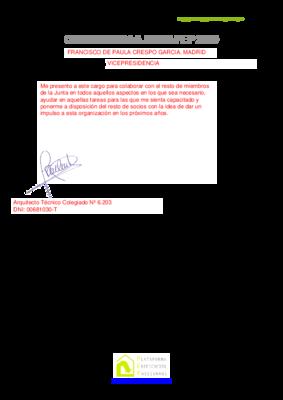 Candidatura junta 2019 fran crespo