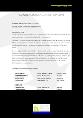 Candidatura equipo junta 2019