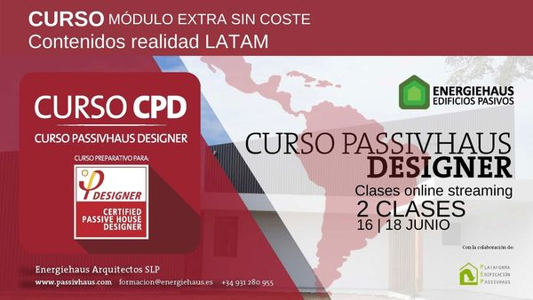 Calendario curso cpd latam passivhaus designer